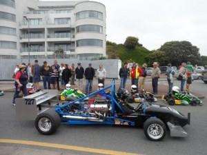 Karts ready to go.