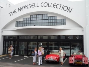 Parked outside the Nigel Mansell Collection before entering the museum.