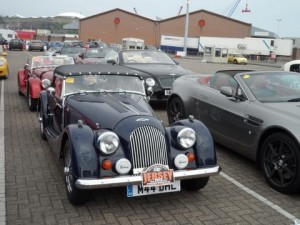 Queuing for the return ferry with another Morgan, from Kent/